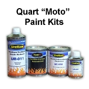 100 Series Solid Color Base Clear Motorcycle Paint Kits