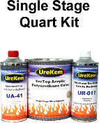 UreTop Solid Color Urethane Topcoat 1.5 Quart Kits