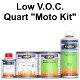 100 Series Solid Color Base Clear Motorcycle Paint Kits Low VOC