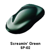Screamin' Green Pearl Powder