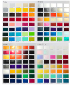 Custom Car Paint Colors Selector - UreChem Color Chart